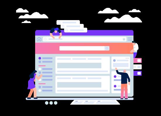 site design - طراحی گرافیک وب سایت به کمک تصویرسازی انتزاعی