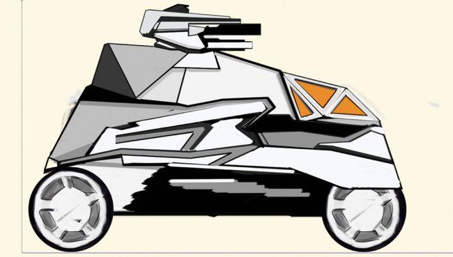 sketch 1 - مدل سازی ماشین در سینما فوردی