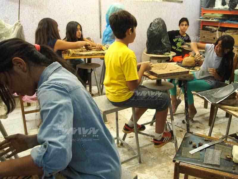 کلاس های آموزش سفالگری کودکان