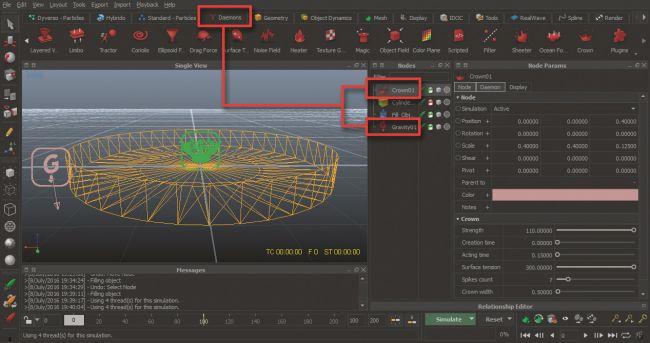 step5 - ساخت پاشیده شدن قطرات با realflow