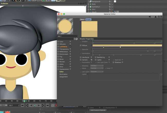 step 3 create a light - ساخت شخصیت های کارتونی در cinema 4d