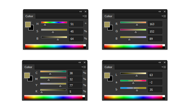 4 wrong colors 1 - 10 اشتباه رایج در هنر دیجیتال و چگونگی برطرف نمودن آنها