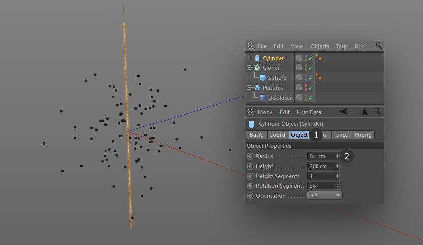 cloned lines step 02 - نحوه ی ساخت قلموی سه بعدی هندسی فوتوشاپ با Cinema 4D