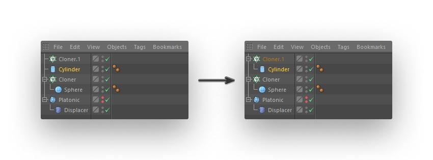 cloned lines step 04 - نحوه ی ساخت قلموی سه بعدی هندسی فوتوشاپ با Cinema 4D