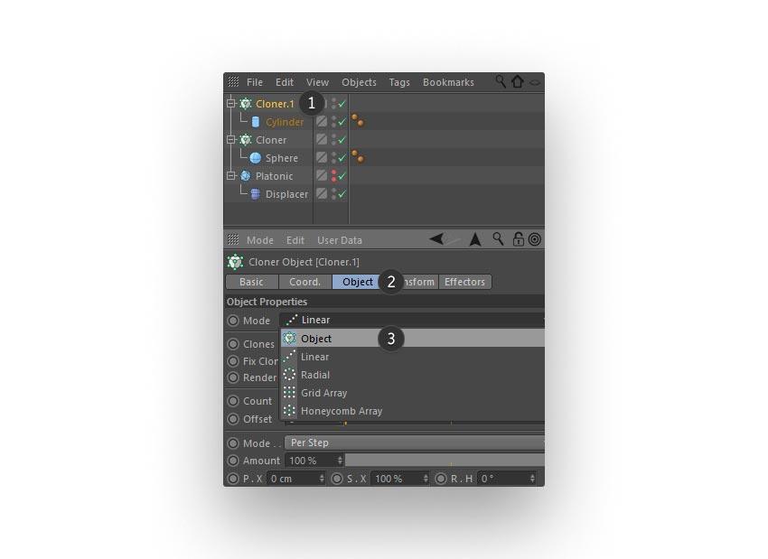cloned lines step 05 - نحوه ی ساخت قلموی سه بعدی هندسی فوتوشاپ با Cinema 4D