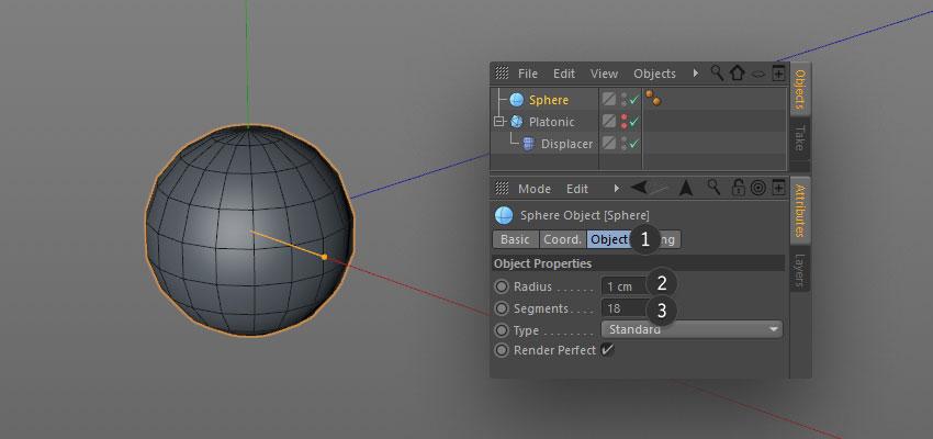 cloned spheres step 02 - نحوه ی ساخت قلموی سه بعدی هندسی فوتوشاپ با Cinema 4D