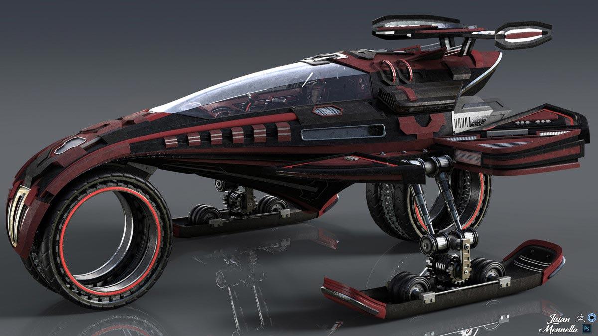 design car in zbrush 2 - کاربردهای زیبراش ؛ طراحی اتومبیل با زیبراش
