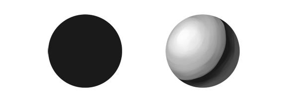 practice painting 5 lighting - 7 تمرین لازم برای بهبود مهارت های نقاشی دیجیتال