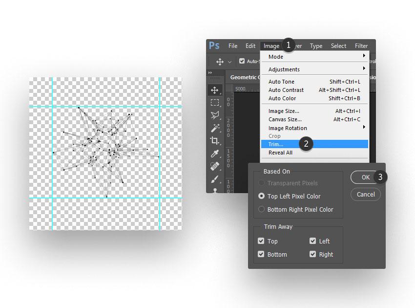 ps brush step 05 - نحوه ی ساخت قلموی سه بعدی هندسی فوتوشاپ با Cinema 4D