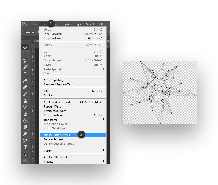 ps brush step 06 - نحوه ی ساخت قلموی سه بعدی هندسی فوتوشاپ با Cinema 4D
