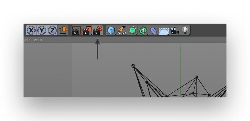 render step 01 - نحوه ی ساخت قلموی سه بعدی هندسی فوتوشاپ با Cinema 4D