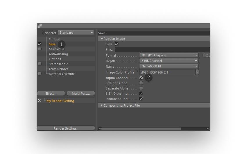 render step 03 - نحوه ی ساخت قلموی سه بعدی هندسی فوتوشاپ با Cinema 4D