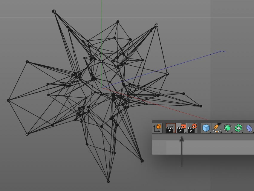 render step 04 - نحوه ی ساخت قلموی سه بعدی هندسی فوتوشاپ با Cinema 4D