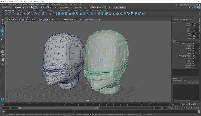step2 blend - نحوه استفاده از اشکال ترکیبی در شخصیت های انیمیشنی