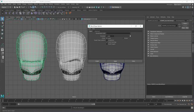 step6 blend - نحوه استفاده از اشکال ترکیبی در شخصیت های انیمیشنی
