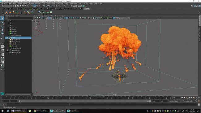 step 18 - چگونگی شبیه سازی انفجارها در نرم افزار Maya