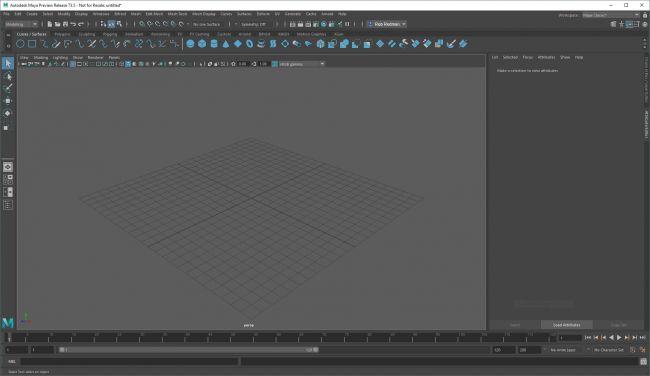 step 1 maya interface - ساخت کاربر سفارشی در Maya