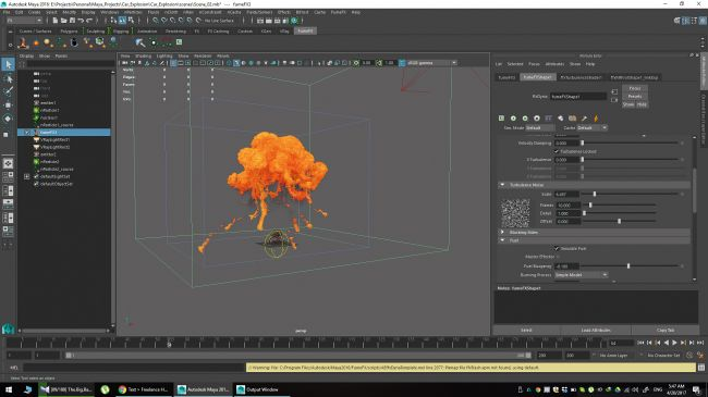 step 20 - چگونگی شبیه سازی انفجارها در نرم افزار Maya
