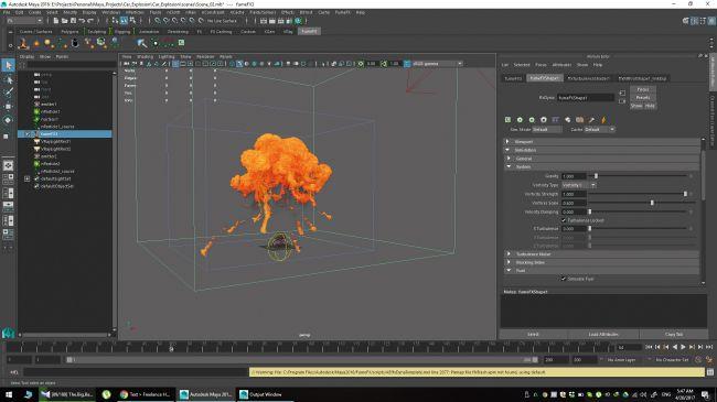 step 21 - چگونگی شبیه سازی انفجارها در نرم افزار Maya