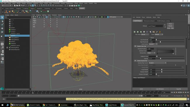 step 25 - چگونگی شبیه سازی انفجارها در نرم افزار Maya
