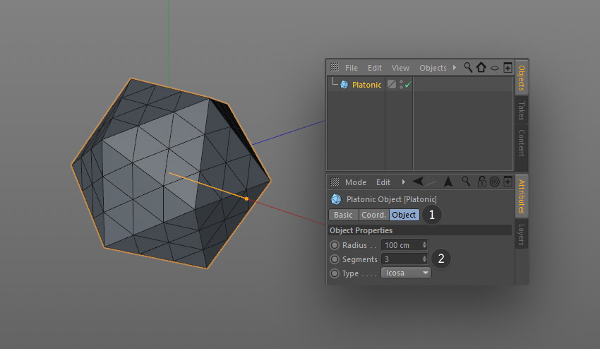 step 2 creat geometric - نحوه ی ساخت قلموی سه بعدی هندسی فوتوشاپ با Cinema 4D