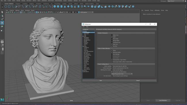 step 2 maya interface - ساخت کاربر سفارشی در Maya