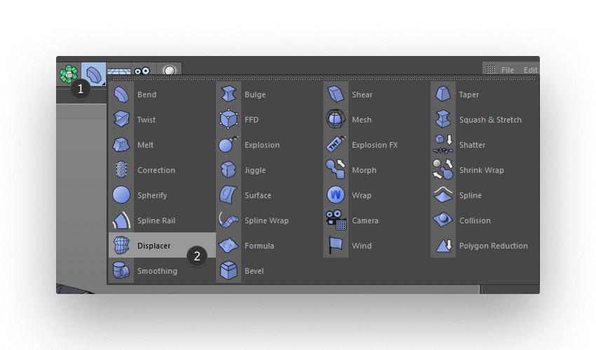 step 3 creat geometric - نحوه ی ساخت قلموی سه بعدی هندسی فوتوشاپ با Cinema 4D