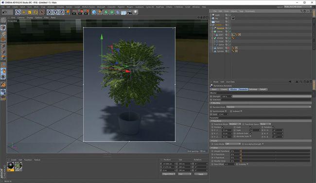 step 4 effector - ساخت گیاهان طبیعی در Cinema 4D