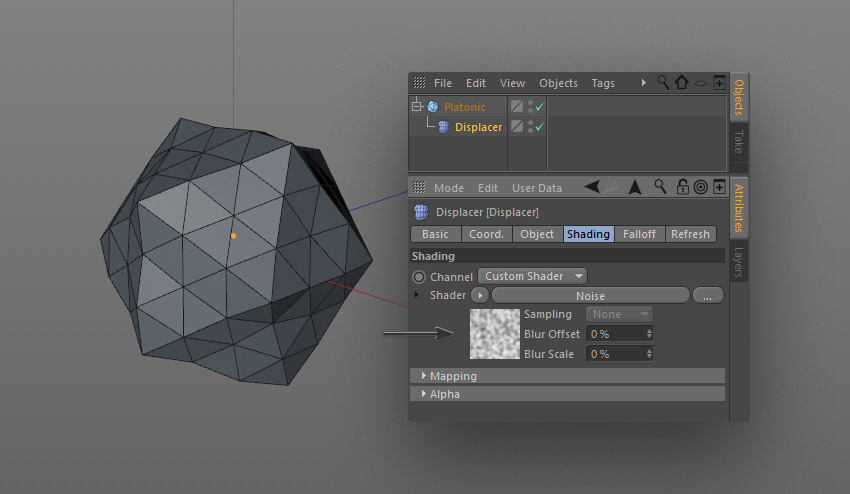 step 6 creat geometric - نحوه ی ساخت قلموی سه بعدی هندسی فوتوشاپ با Cinema 4D