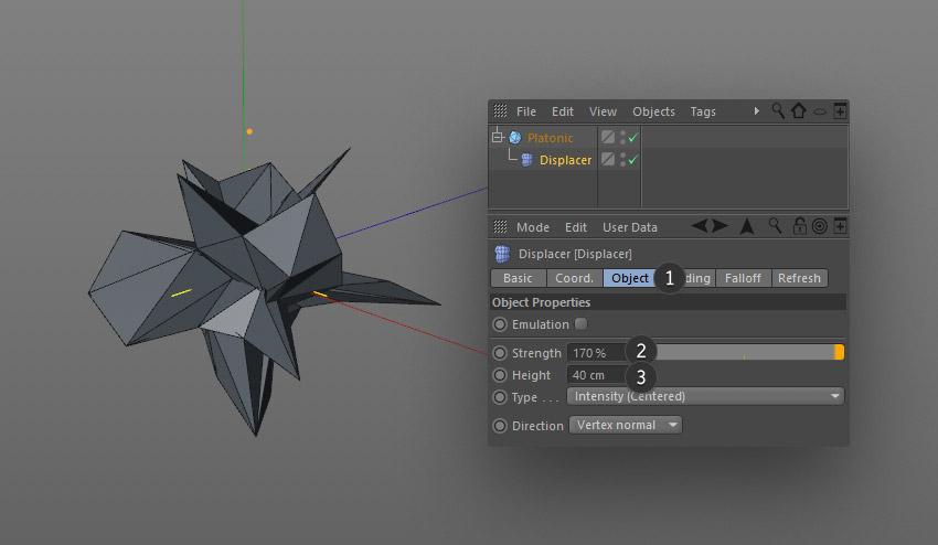 step 8 creat geometric - نحوه ی ساخت قلموی سه بعدی هندسی فوتوشاپ با Cinema 4D