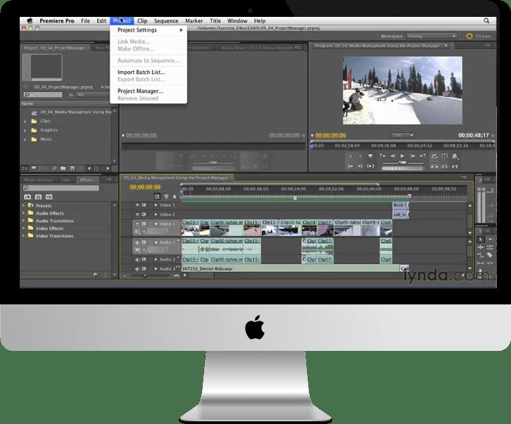 adobe premiere pro cc 2 - کاربردهایProject Manager در Premiere Pro