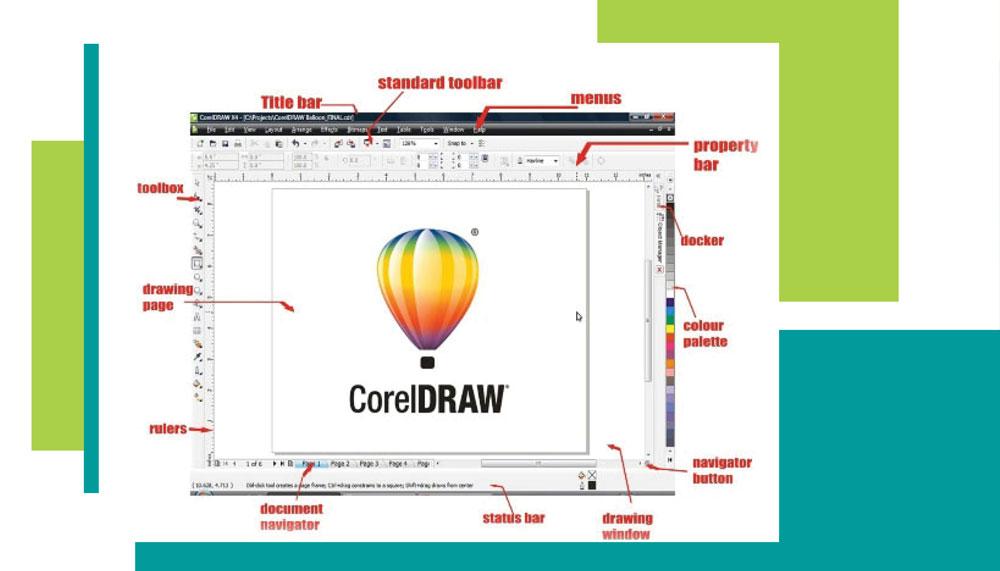 corel graphic 3 - کاربرد کورل در گرافیک