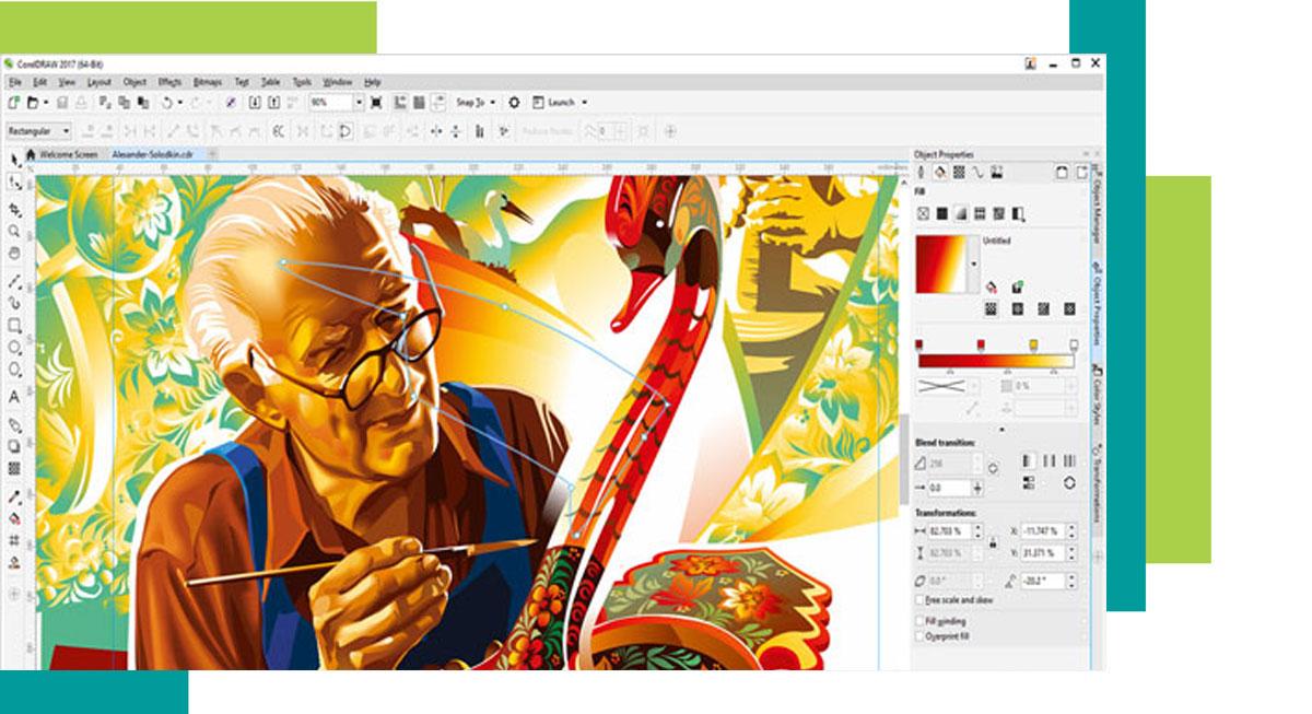corel graphic 4 - کاربرد کورل در گرافیک