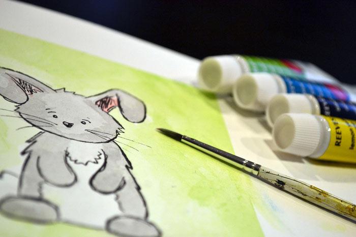 rabbit painting - ده دلیل اهمیت بسیار هنر در آموزش و پرورش کودکان