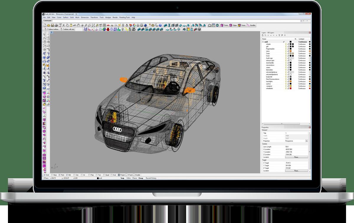 rhinoceros car 10 - آموزش طراحی خودرو با راینو