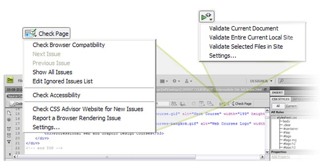 step4 code validation - 10 نکته مفید درباره Dreamweaver