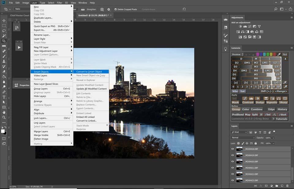 Blending for ISO Performance photoshop 14 - چگونگی بالابردن کیفیت عکاسی در نور کم با افزایش ISO