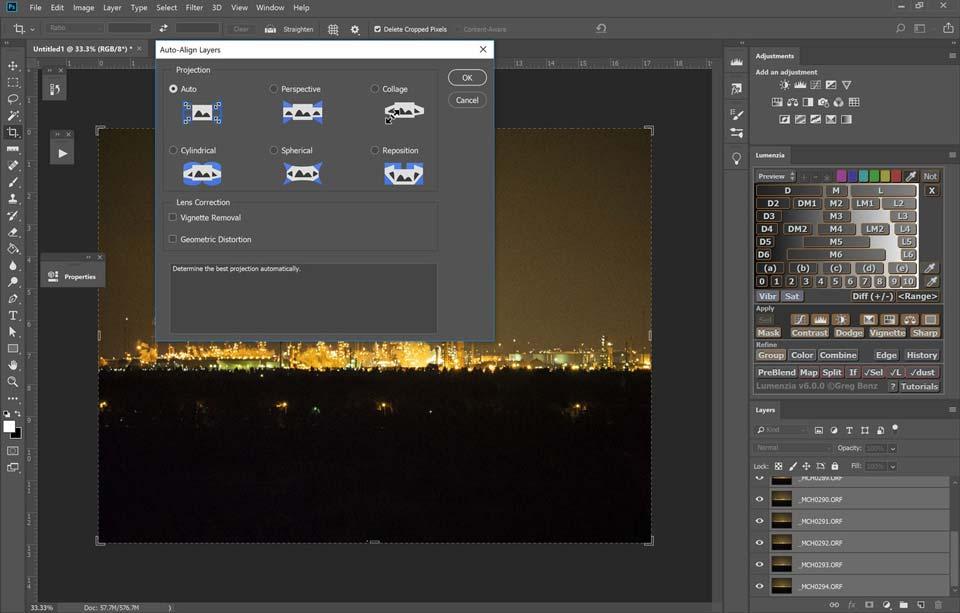 Blending for ISO Performance photoshop 15 - چگونگی بالابردن کیفیت عکاسی در نور کم با افزایش ISO