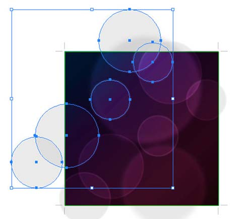 Bokeh vector background step12 - نحوه ساخت پس زمینه بوکه در ایلوستریتور
