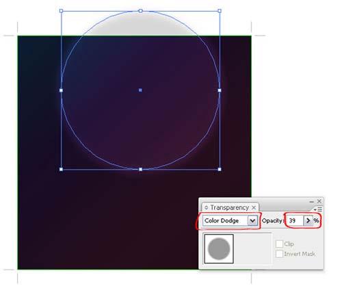Bokeh vector background step8 - نحوه ساخت پس زمینه بوکه در ایلوستریتور