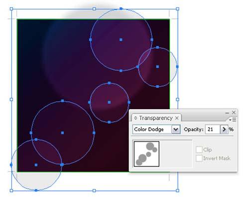 Bokeh vector background step9 - نحوه ساخت پس زمینه بوکه در ایلوستریتور
