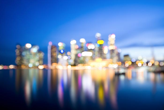 Fast Lens photography - نکاتی برای عکاسی خارج از فوکوس بوکه شهری در ساعت آبی