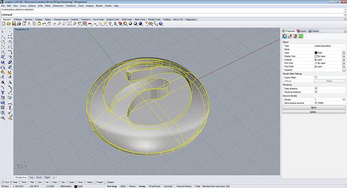 rhino Closed polysurfaces step 1 - مدل های Rhino: طراحی یک فایل سه بعدی قابل چاپ