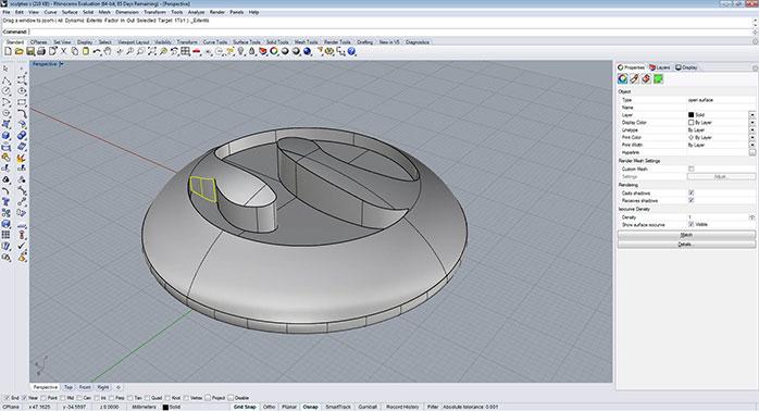 rhino Closed polysurfaces step 3 - مدل های Rhino: طراحی یک فایل سه بعدی قابل چاپ