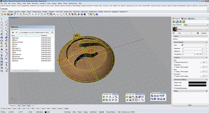 rhino Color and textures 6 - مدل های Rhino: طراحی یک فایل سه بعدی قابل چاپ