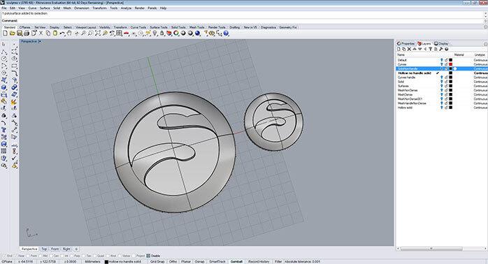 rhino Material reduce step 1 - مدل های Rhino: طراحی یک فایل سه بعدی قابل چاپ