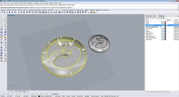 rhino Material reduce step 3 - مدل های Rhino: طراحی یک فایل سه بعدی قابل چاپ