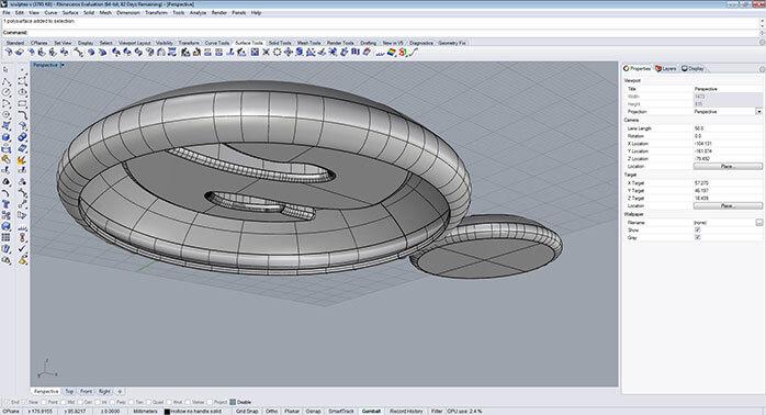 rhino Material reduce step 4 - مدل های Rhino: طراحی یک فایل سه بعدی قابل چاپ