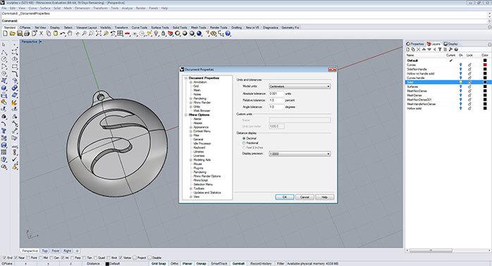 rhino Objet dimensions step 1 - مدل های Rhino: طراحی یک فایل سه بعدی قابل چاپ