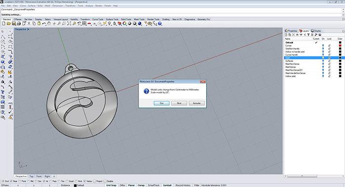 rhino Objet  dimensions step 2 - مدل های Rhino: طراحی یک فایل سه بعدی قابل چاپ